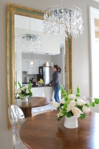 dining room wall mirror Room and board table lucite chair
