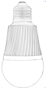 Dimmable White A-19 LED Light Bulbs