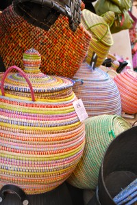 beautiful and colorful french basket containers